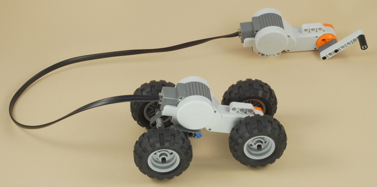 Nxt hand generator car for Simple electric motor car project